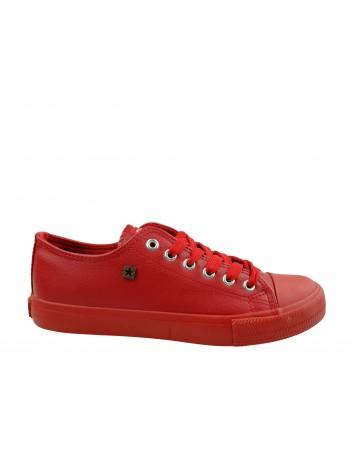 Trampki damskie BIG STAR V274872SS20,Kolor czerwony