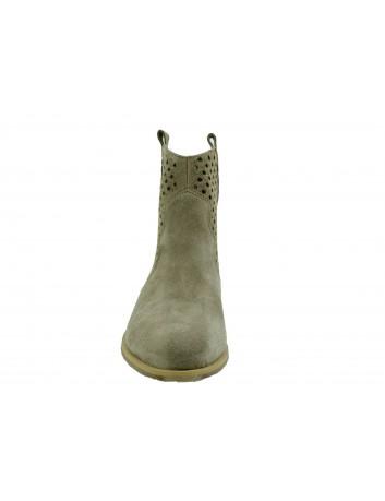 Skórzany botek damski JUMA 2715,Kolor brązowy