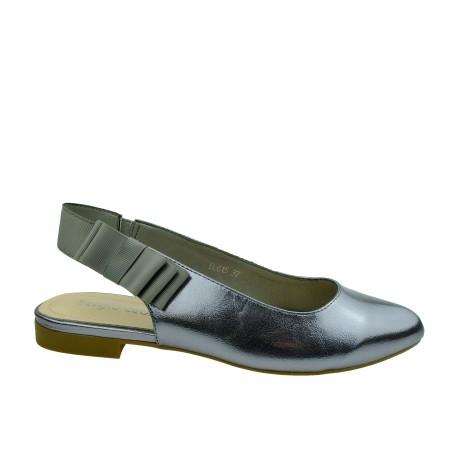 Sandał damski Sergio Leone BL615,Kolor srebrny