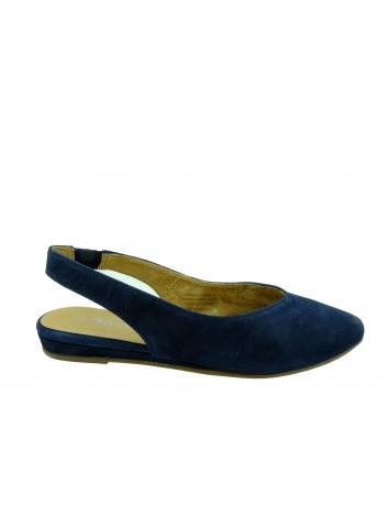 Skórzany sandał damski Tamaris 1-29406-22N, Kolor granatowy