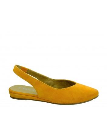 Skórzany sandał damski Tamaris 1-29406-22O,Kolor pomarańczowy