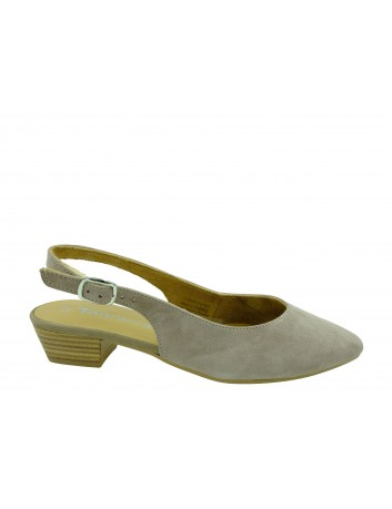 Skórzany sandał damski Tamaris 1-29405-24N,Kolor beżowy