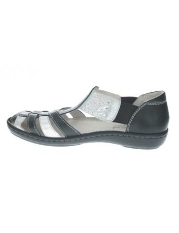 Sandał skórzany damski T.Sokolski FC L20-01,kolor czarno srebrny