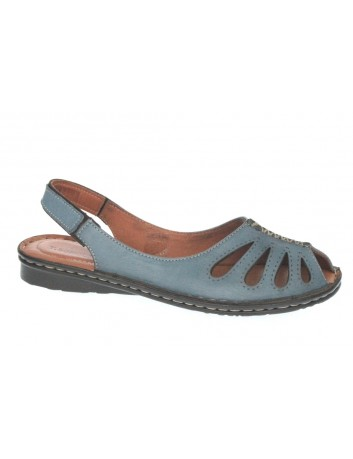Sandały skórzane damskie T.Sokolski SUL 1951,Kolor niebieski