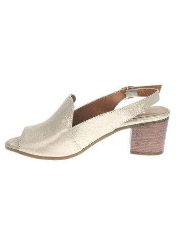 Sandały skórzane damskie 0436-501.311 T.Sokolski,Kolor beżowy