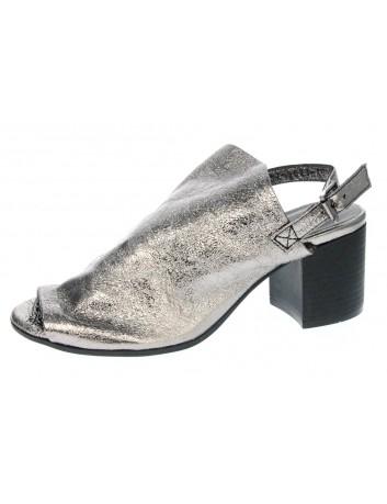 Sandały skórzane damskie 0637-9023 T.Sokolski,Kolor platina