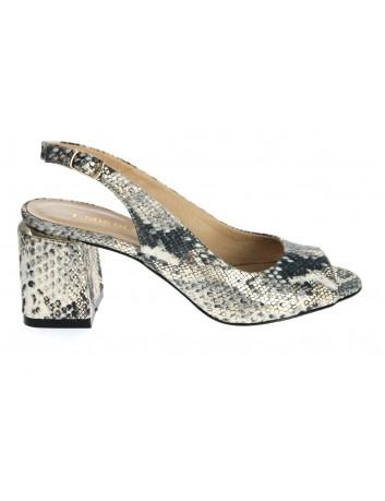 Sandały skórzane damskie LP 0240-DZ T.Sokolski, Kolor biały