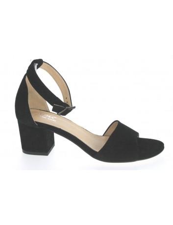 Skórzany sandał damski JUMA 2660, Kolor czarny