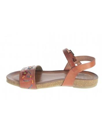 Skórzany sandał damski Hiszpańska marka Porronet L-2416,Kolor brąz
