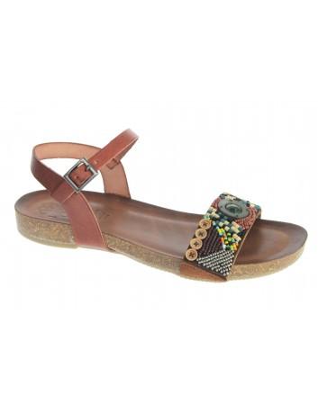 Skórzany sandał damski Hiszpańska marka Porronet L-2528 ,Kolor brąz
