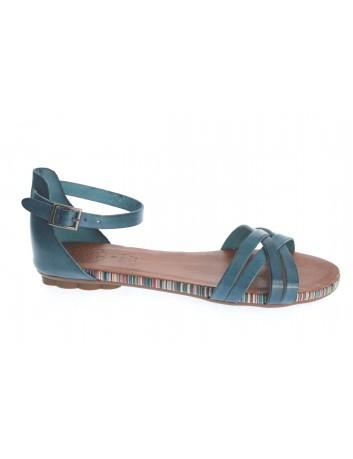 Skórzany sandał damski Hiszpańskiej marki Porronet L-2512 ,Kolor niebieski