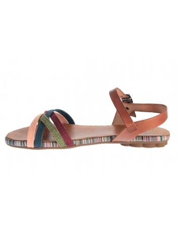 Sandał damski skórzany Hiszpańskiej marki Porronet L-2515,Kolor brąz