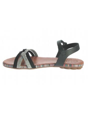 Sandał damski skórzany Hiszpańskiej marki Porronet L-2515,Kolor czarny