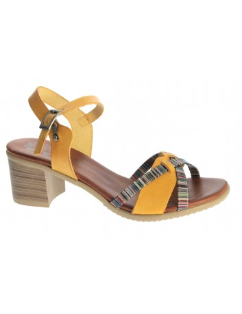 Sandał skórzany damski Hiszpańkiej marki Porronet L-2545,Kolor żółty