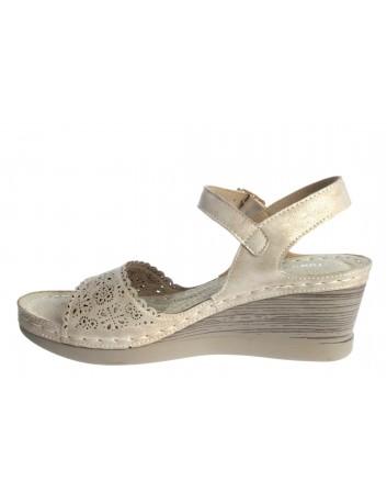 Komfortowy sandał damski T.Sokolski SK L20-28 ,Kolor beżowy