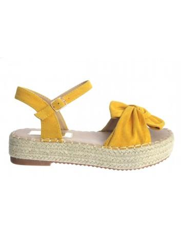 Espadryl sandał damski T.Sokolski HX 20L-05, Kolor żółty