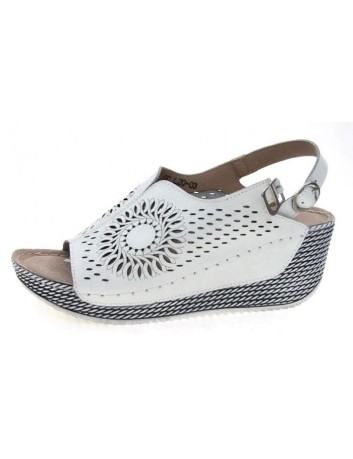Skórzany sandał T.Sokolski OC L20-03,Kolor biały