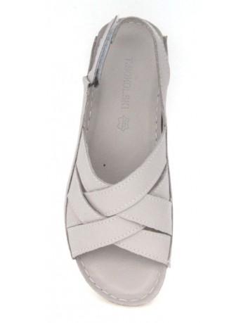 Skórzany komfortowy sandał damski T.Sokolski BK L20-04, Kolor-szary