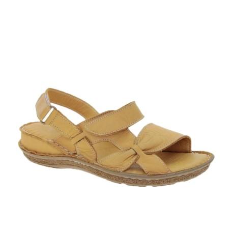 Skórzany komfortowy sandał damski T.Sokolski, Kolor  żółty