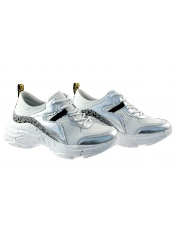 Sportowe Sneakersy skórzany T.Sokolski FLY W20-05 ,Kolor biały srebrny
