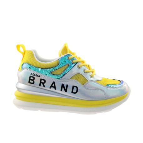 Sportowe Sneakersy skórzany T.Sokolski FLY W20-04 ,Kolor żółty