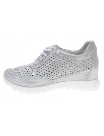 Sneakersy skórzane damskie T.Sokolski GS W20-07,Kolor srebrny