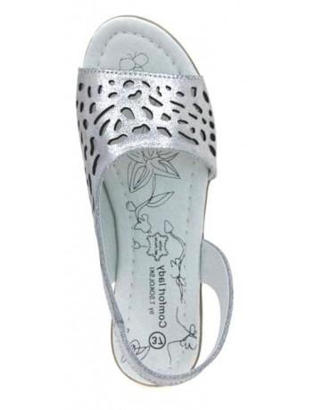 Sandał skórzany damski  T.Sokolski FC L20-05, Kolor ciemny srebrny