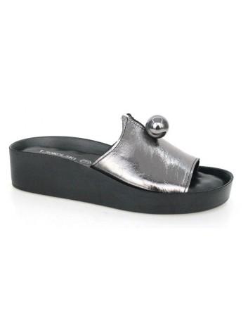 Skórzany klapek damski T.Sokolski BK L20-12,Kolor ciemno srebrny