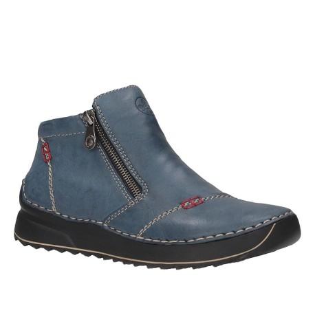 Botek damski Rieker RIE 51561-14R niebieski