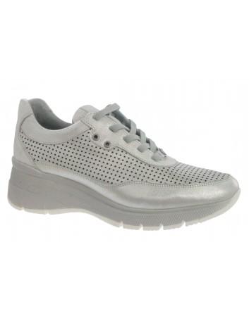 Skórzany sneakers damski MAM D21YA-280 biały