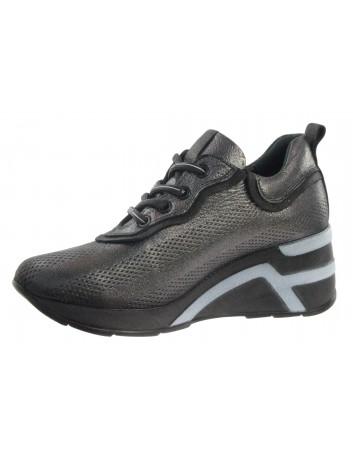 Skórzany sneakers damski T.SOKOLSKI MAM D21YA-15 czarny