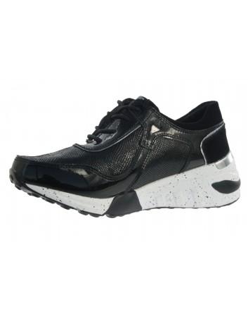 Sportowe sneakersy skórzane T.Sokolski OC W21-96 czarny