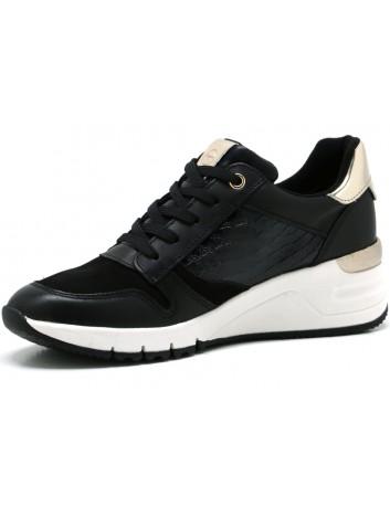 Półbut sneakers skórzany Tamaris 1-23702-26 czarny