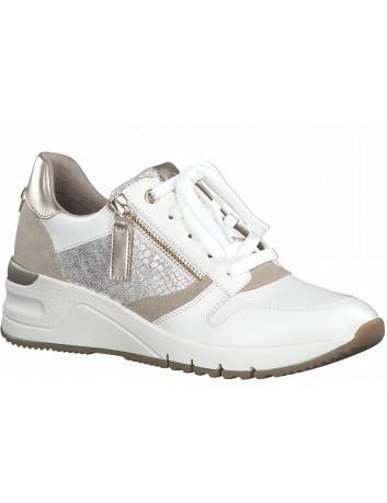Półbut sneakers skórzany Tamaris 1-23702-26 biały