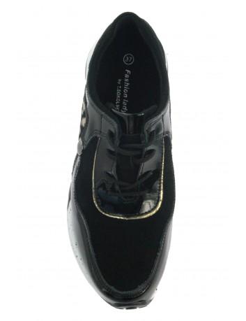 Sportowe sneakersy skórzane T.Sokolski OC W21-96 czarny złoty
