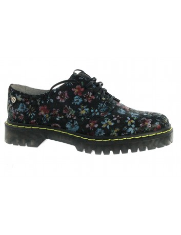 Oxfordy Maciejka MAC 04087-14 czarny kwiat