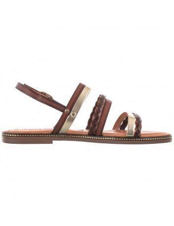 Skórzany sandał damski Tamaris 1-28141-26 brązowy
