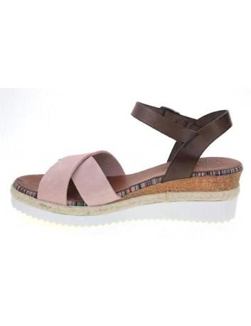 Skórzany sandał damski Porronet L-2551 różowy