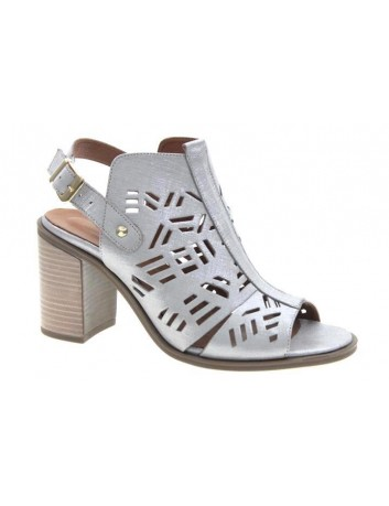 Sandały skórzane damskie T.Sokolski LU P046-321 srebrny