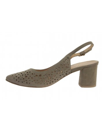 Sandał damski skórzany JUMA 2819 beżowy