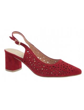 Sandał damski skórzany JUMA 2819 czerwony