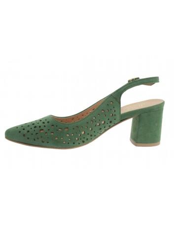 Sandał damski skórzany JUMA 2819 zielony