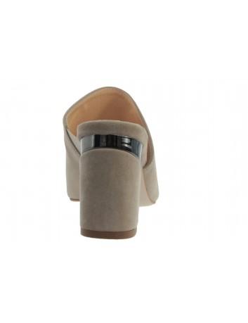 Skórzany klapek damski JUMA 2825 beżowy