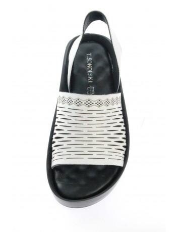 Skórzany sandał damski T.Sokolski BK L21-310 biały