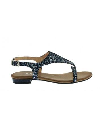 Skórzany sandał-japonek damski JUMA, Kolor granat